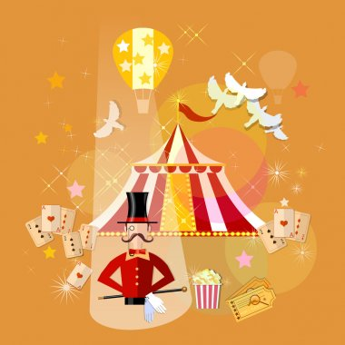 Circus magician performance magic show