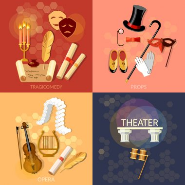 Theatre flat theater set musical operetta entertainment and perf
