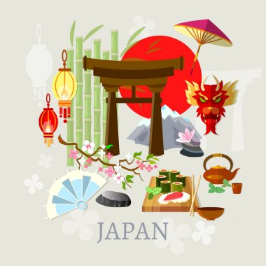 Welcome to Japan japanese culture history and tradition vector