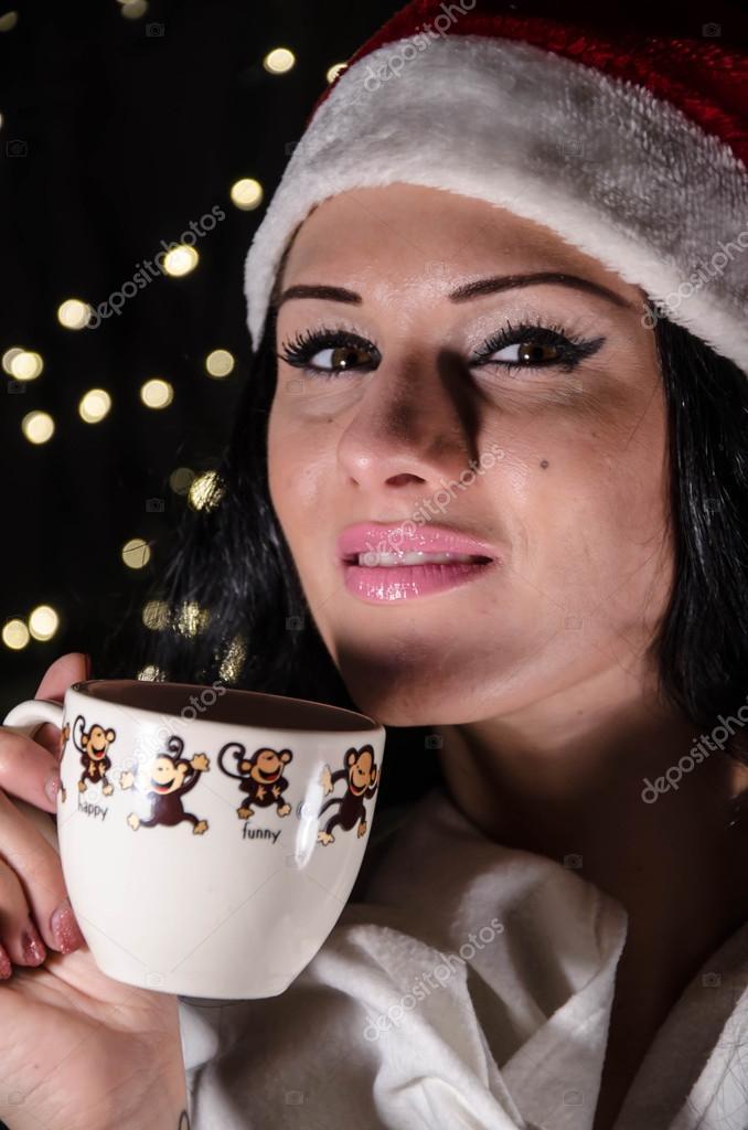 Schwarze Frauen-Weihnachtsgeschenk — Stockfoto © levrints01 #91522862