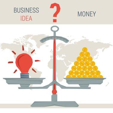 scales - idea or money