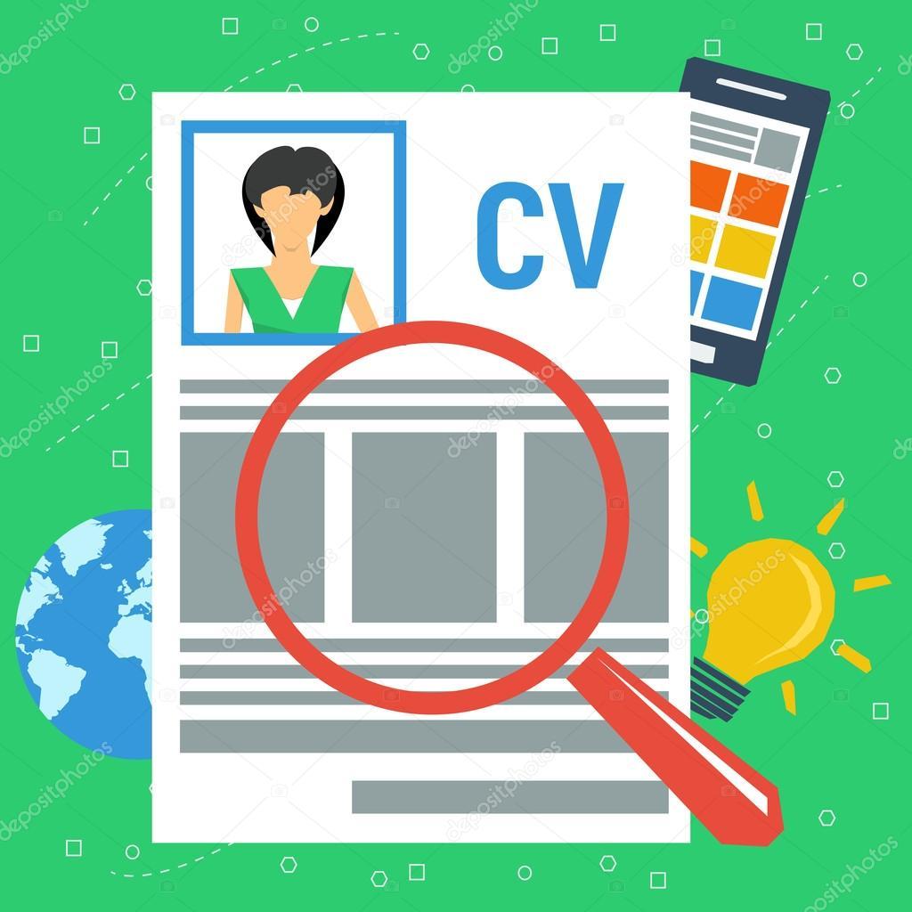 Curriculum Vitae personal de vector concepto — Archivo Imágenes ...