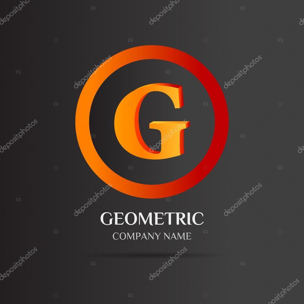 Resumen diseño de la insignia de la letra G — Archivo Imágenes ...
