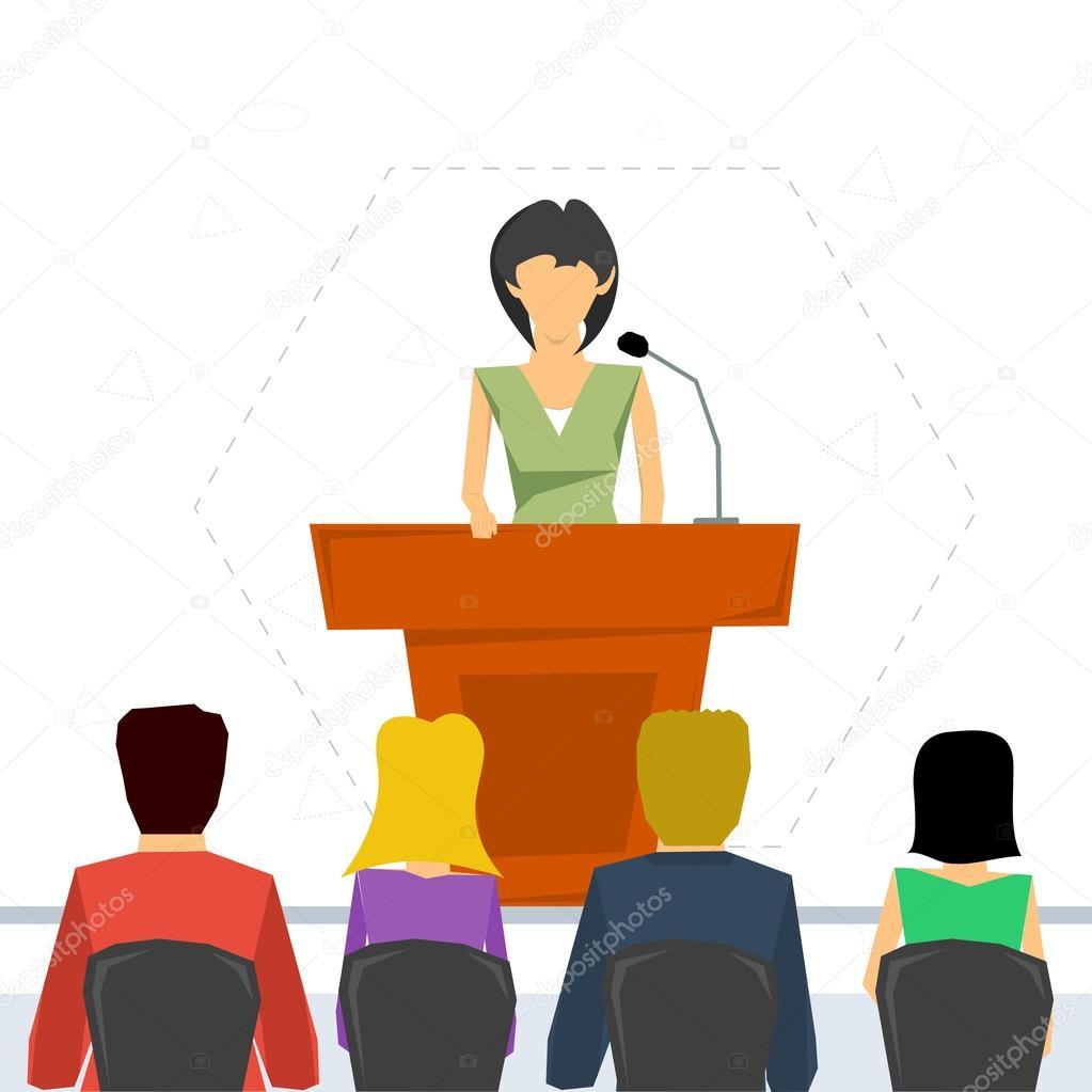 orador de tribuna vector de stock  u00a9 sergeyvasutin 98969464 talk clipart gif let's talk clipart
