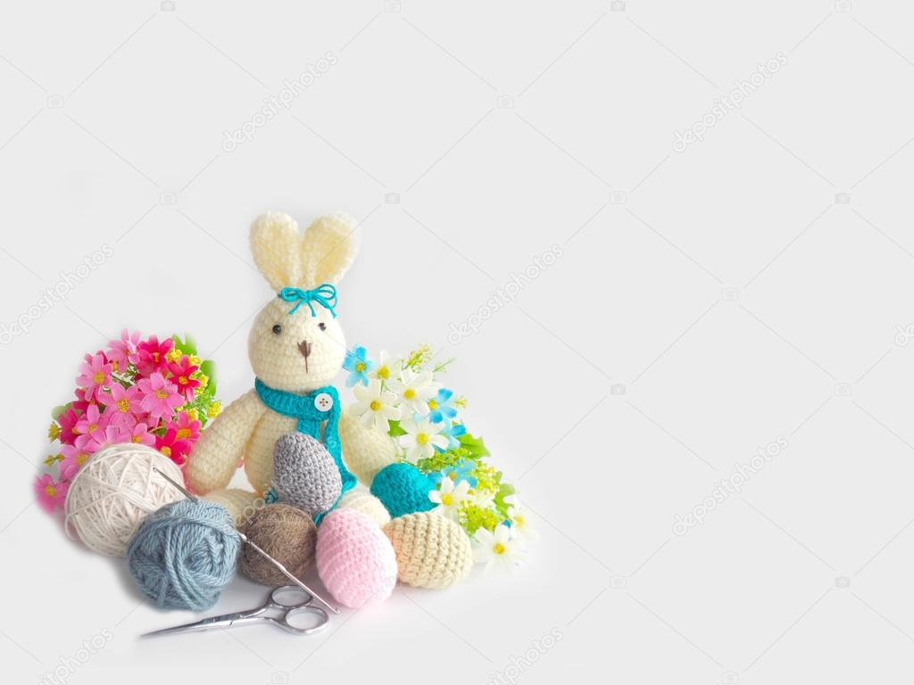 Cute Handmade Crochet Rabbit Doll Stock Photo C Swisty242 119311728