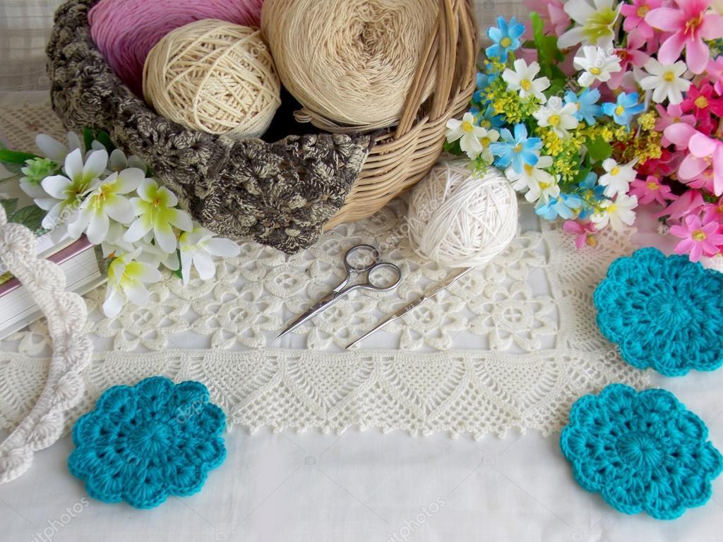 Beautiful Handmade Crochet Lace Background Stock Photo C Swisty242 120357232