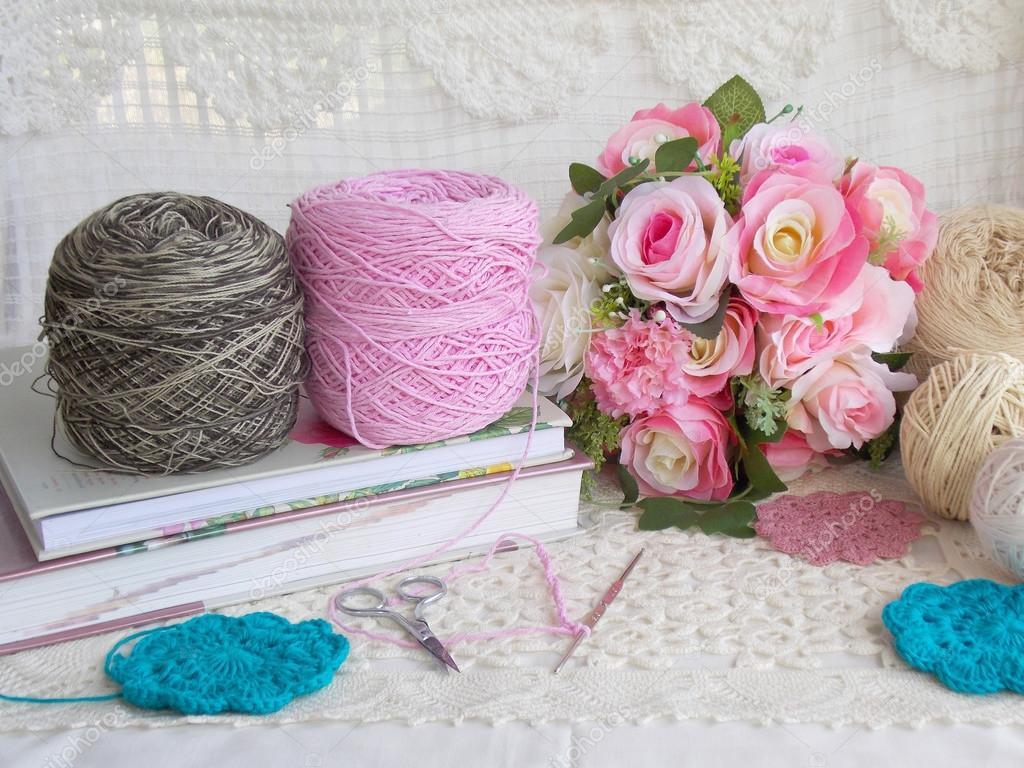 Beautiful Handmade Crochet Lace Background Stock Photo C Swisty242 120357530