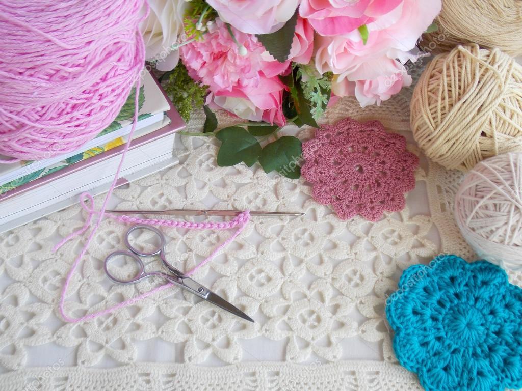 Beautiful Handmade Crochet Lace Background Stock Photo C Swisty242 120358706