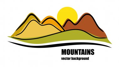 Abstract colorful mountains