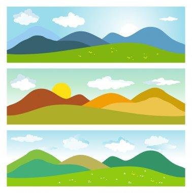 Summer mountain landscapes.