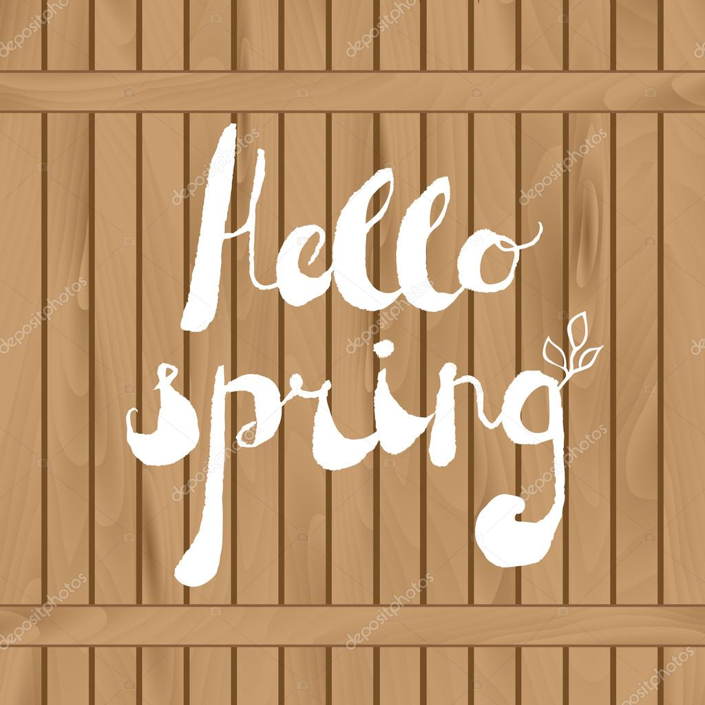 Spring Season Welcoming Season Greeting Card Stock Vector