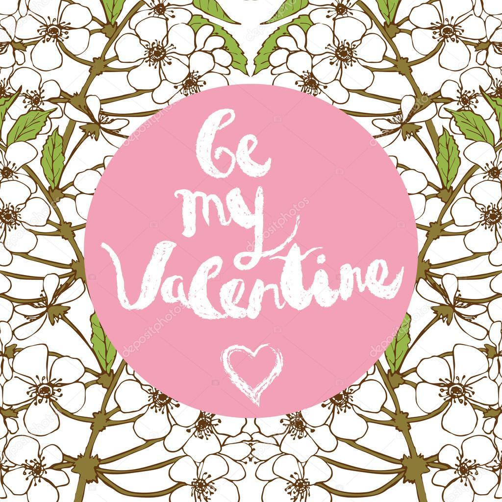 Valentines day greeting card. Handwritten text:
