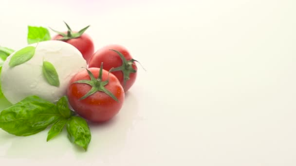 rajčaty, mozzarellou a bazalkou