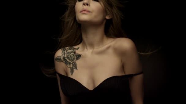 Sensual woman with beautiful body