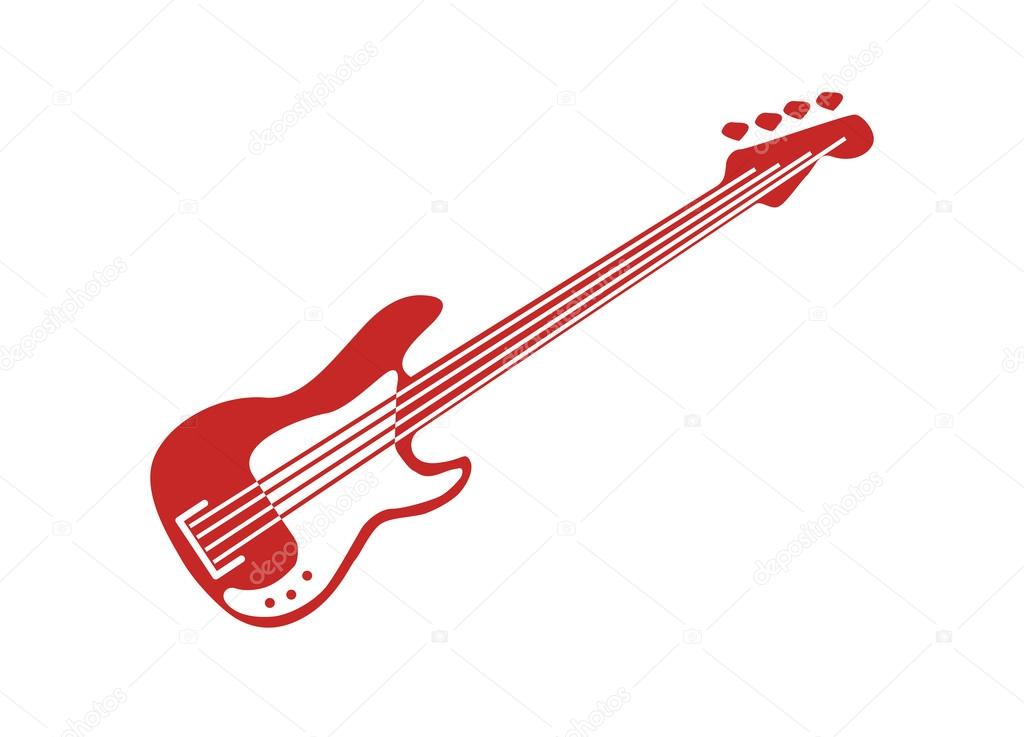 E-Bass rote Vektor — Stockvektor © Demurinart #86979062