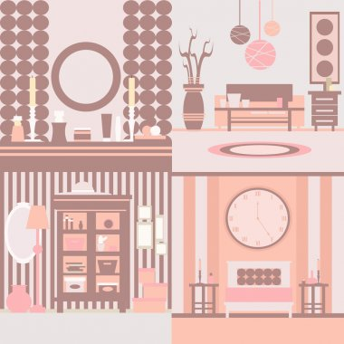 Set of interior design