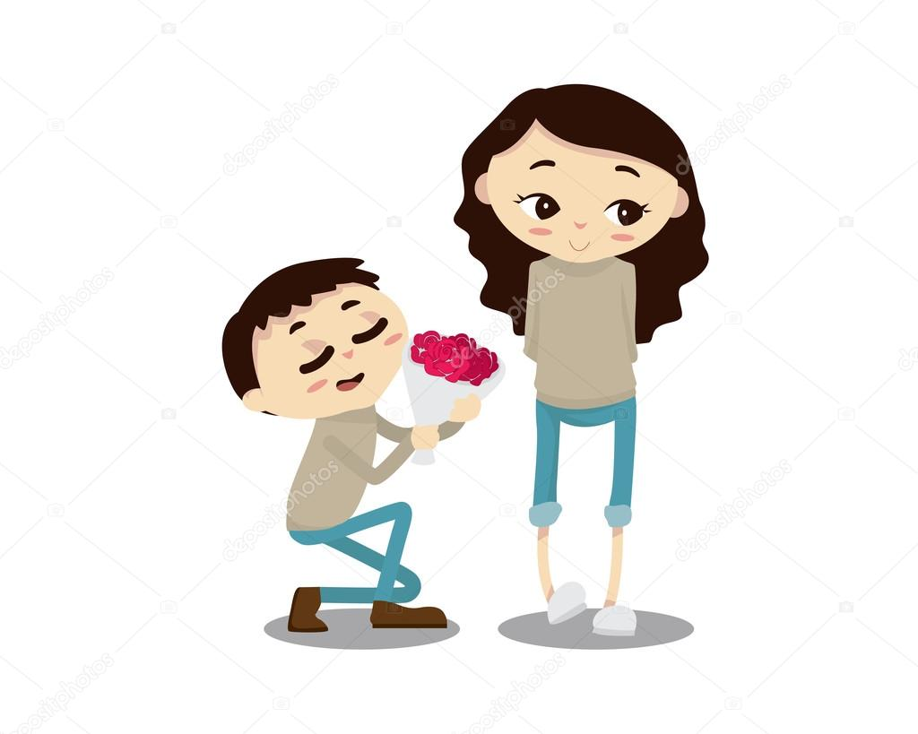 Romantic couple illustration happy anniversary dear u stock