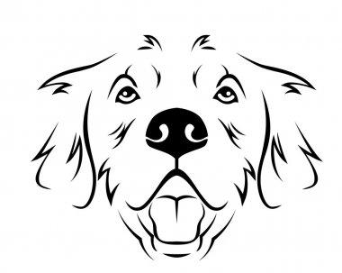 Dog Breed Line Art Logo - Ggolden Retriever