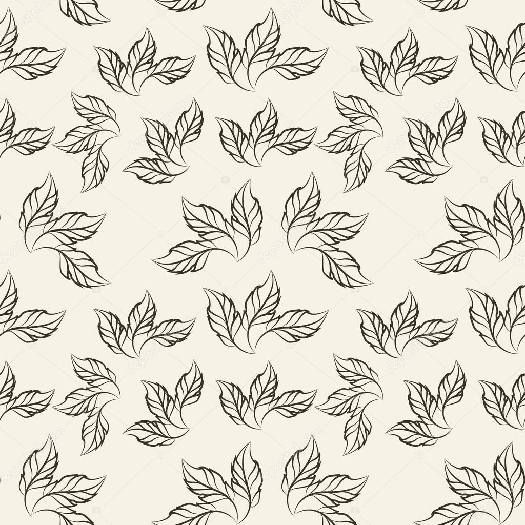 Drei-Blütenblatt häkeln Blumenmuster, Vektor-illustration ...
