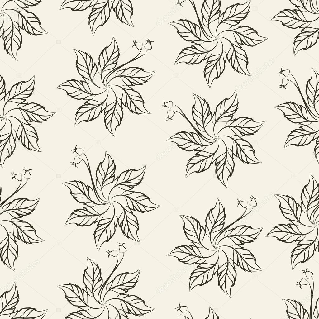 Sieben-Blütenblatt häkeln Blumenmuster, Vektor-illustration ...