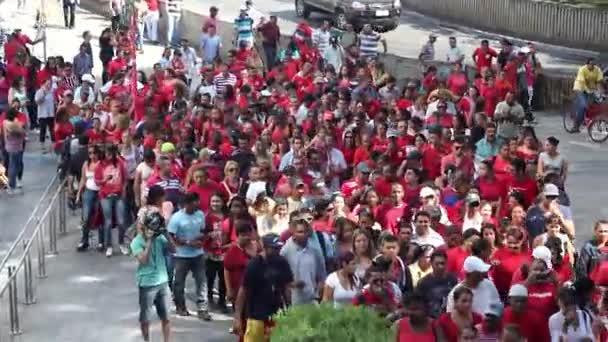 Politické demonstrace v městě Sao Paulo