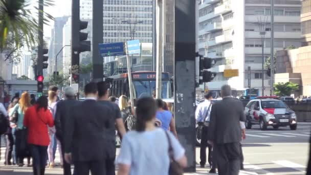 People Walking in Paulista Avenue