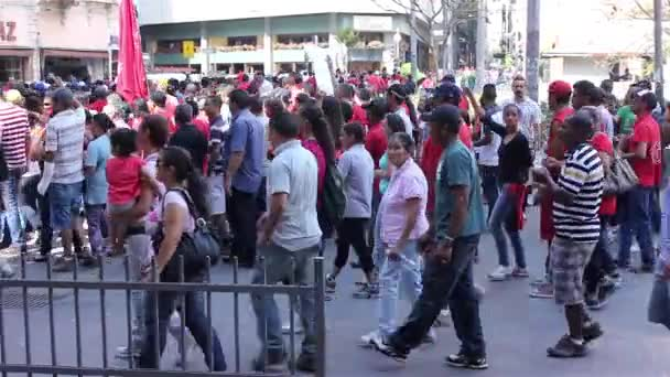 Political demonstration in Sao Paulo City