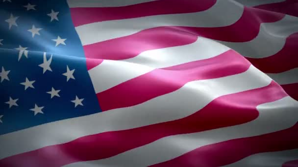 The flag animation of the United States of America