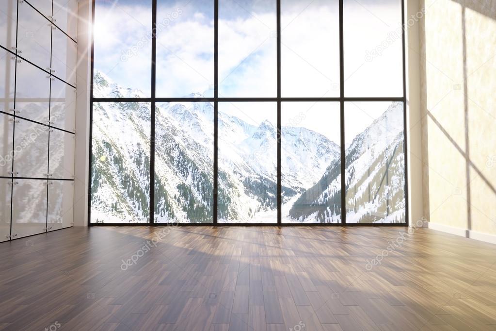3d illustration of comfortable contemporary interior
