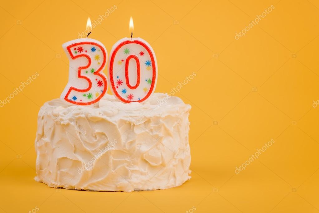 30 Geburtstagskuchen Stockfoto C Chinook203 122418692