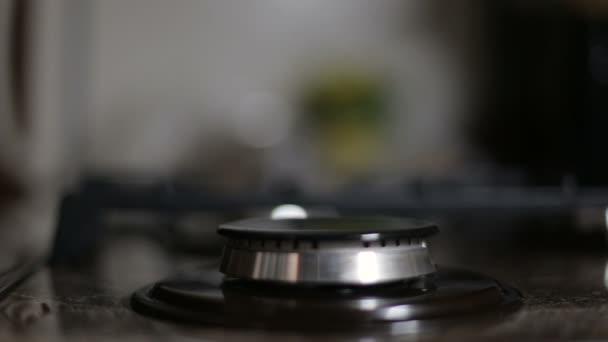 Plynná kuchyň plynový sporák, detail
