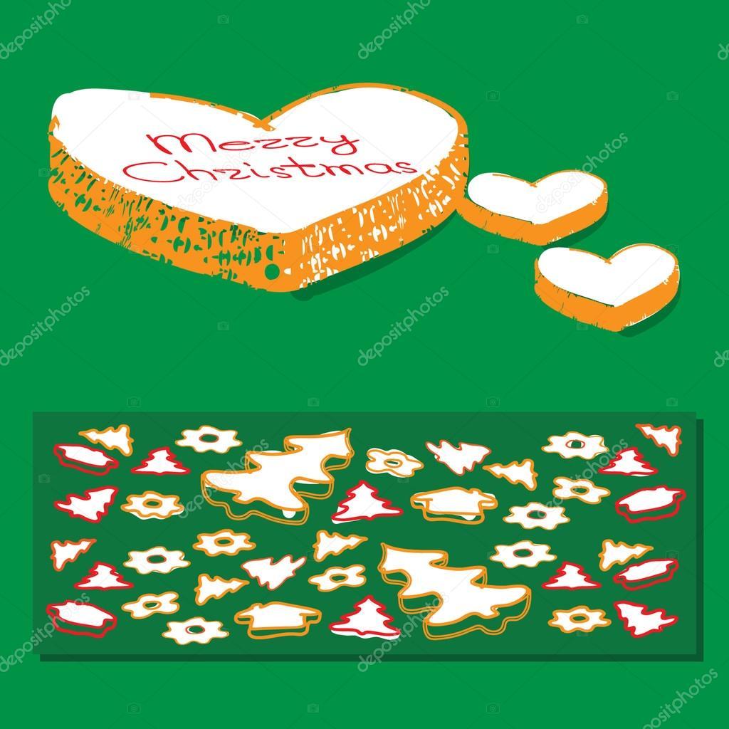 Pan de jengibre galletas de Navidad de la historieta — Archivo ...