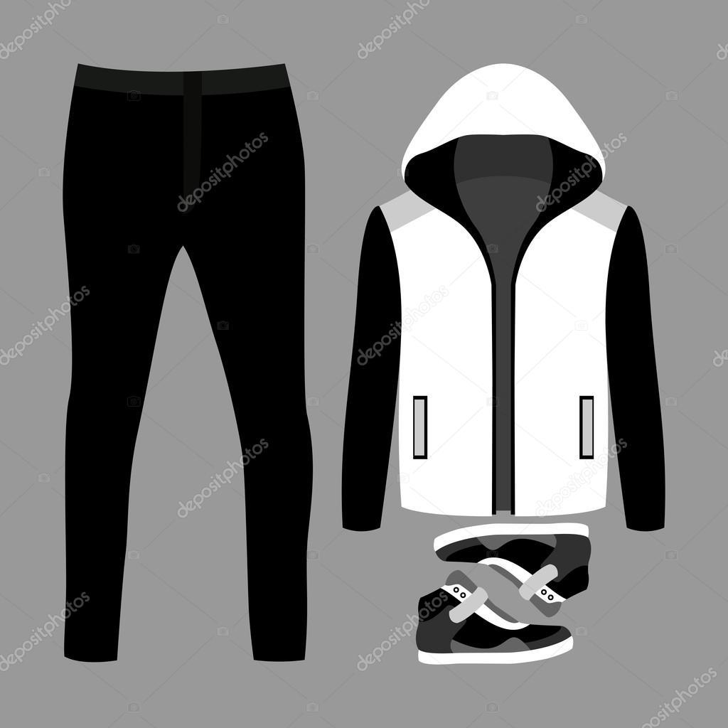 dbab1f19c3 Conjunto de roupas da moda masculina. Roupa de homem blazer