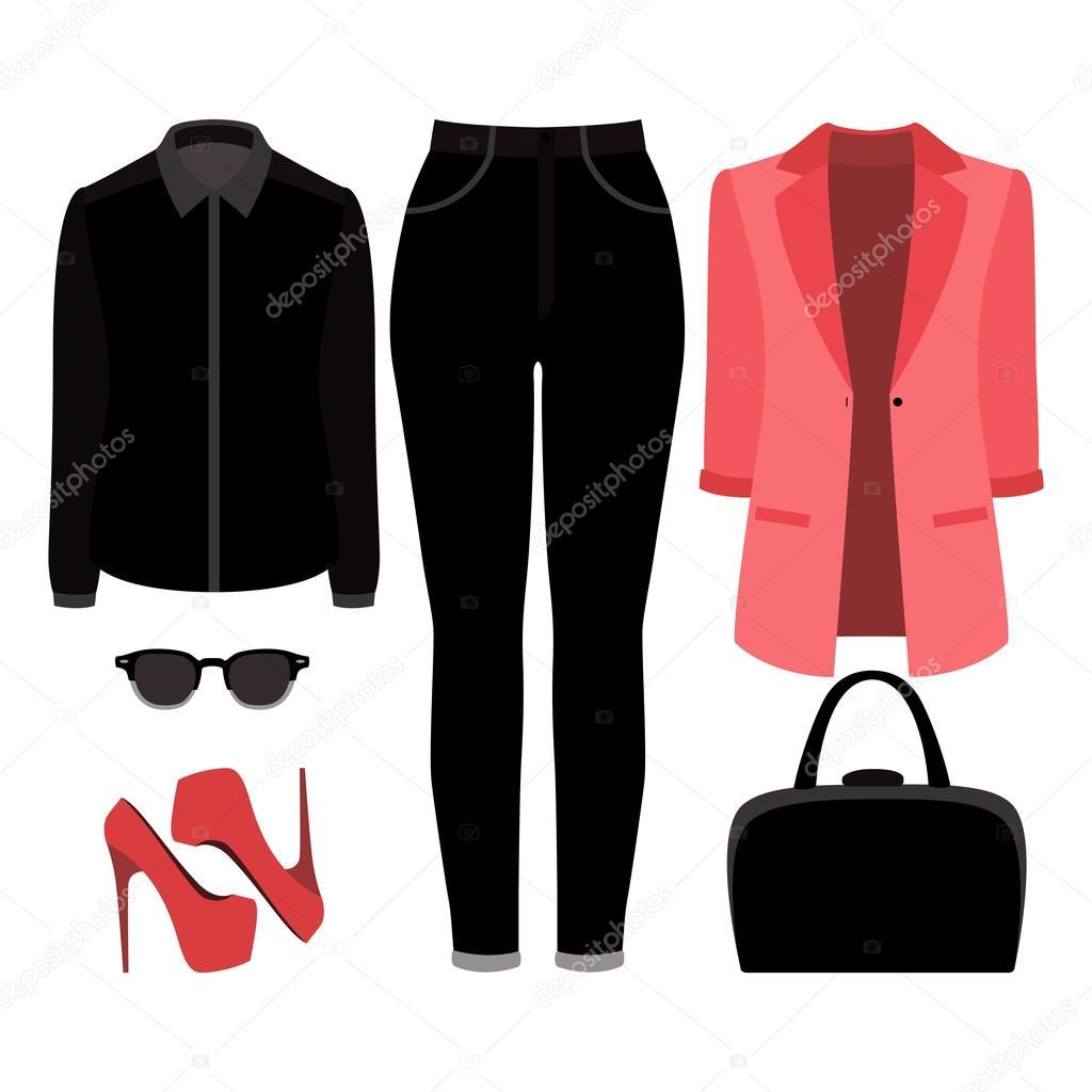 b79bae920969 Set di vestiti alla moda femminile. Vestito di jeans donna