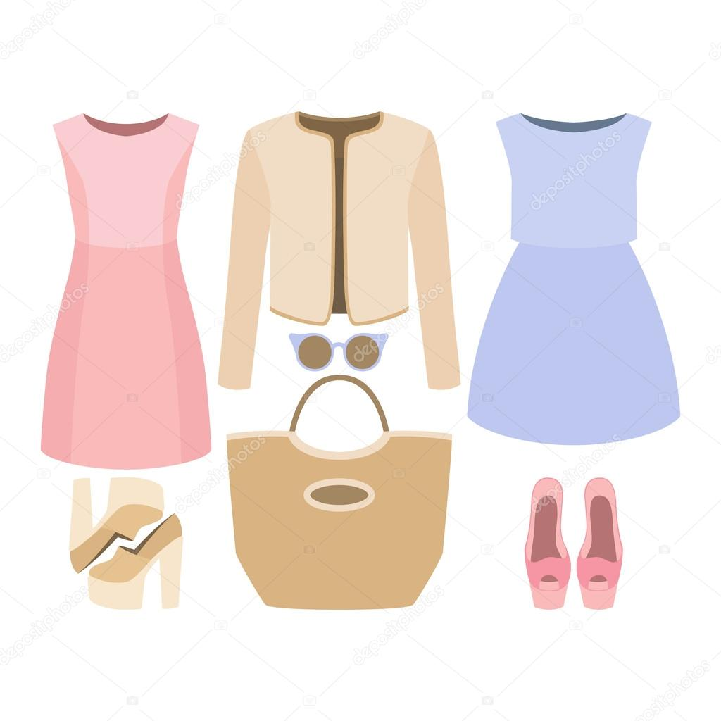 b5fd52624a74 Set di vestiti alla moda femminile. Vestito di giacca donna ...