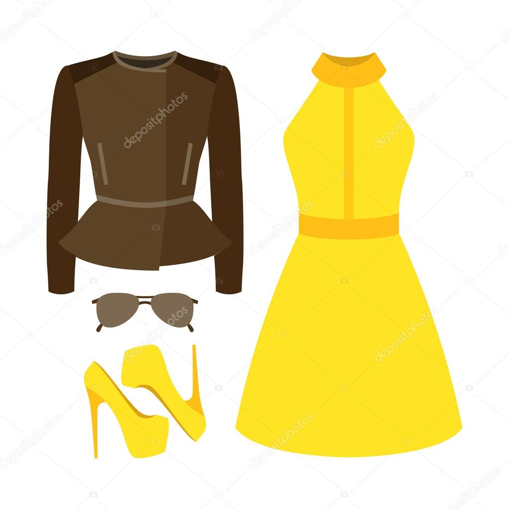 694a5f928568 Set di vestiti alla moda femminile. Vestito di donna rocker giacca ...