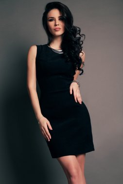 glamour woman wears elegant clothes