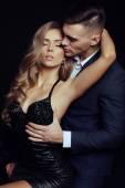 Fotografie schönes reizvolles Paar - Liebesgeschichte