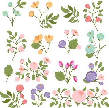 Flower buds bouquet clip art