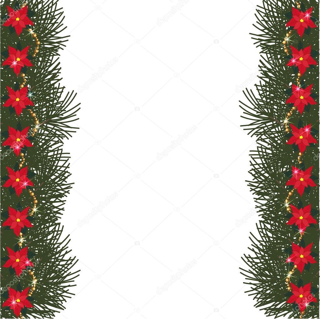 Stella Di Natale Con Perline.Abete Rosso Telaio Con I Fiori Della Stella Di Natale