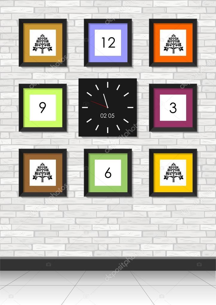Cuadros y relojes — Archivo Imágenes Vectoriales © denisik11 #101526530