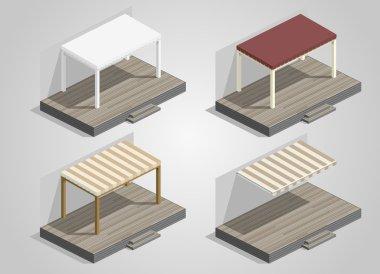 Set of garden sheds