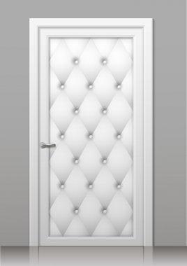 White door in the interior