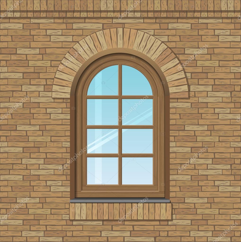 Vecchia finestra ad arco vettoriali stock denisik11 for Finestra vecchia