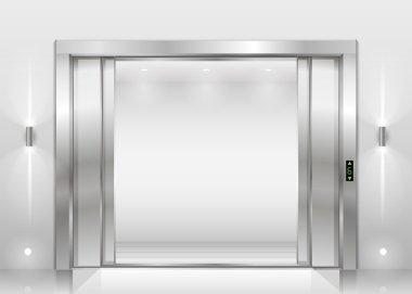 Open the elevator doors