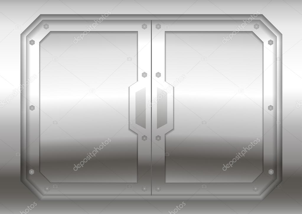 Puerta corredera de metal — Vector de stock © denisik11 ... - photo#50