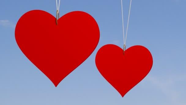 Hearts in sky