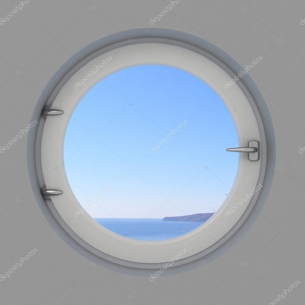 Rundes fenster im innenraum stockfoto denisik11 97331216 for Rundes fenster