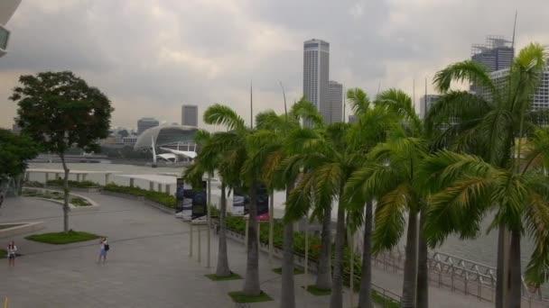 marina bay sands mall esplanade theaters panorama singapore
