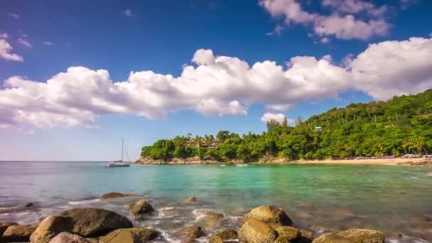 day laem sing beach clean water bay panorama 4k time lapse phuket thailand